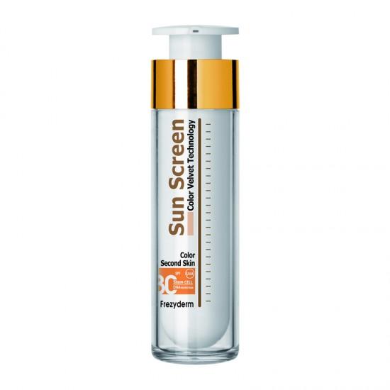 Frezyderm SunScreen Velvet Second Skin Color Face Cream SPF30+ 50ml