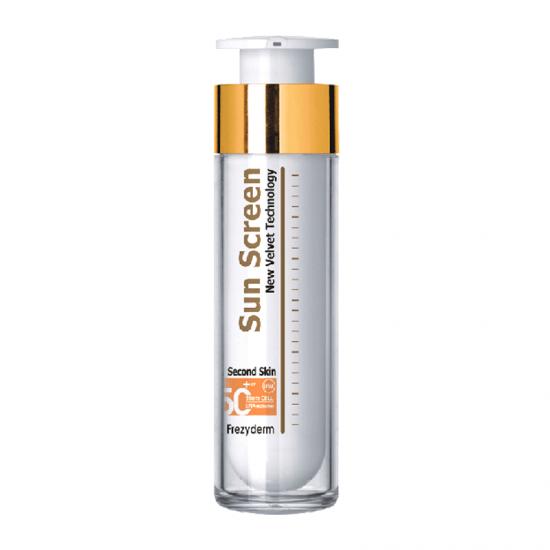 Frezyderm SunScreen Velvet Second Skin Face Cream SPF50+ 50ml