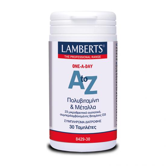 Lamberts A to Z Multivitamins & Minerals 30 Ταμπλέτες - Πολυβιταμίνη με Ευρύ Φάσμα Θρεπτικών Συστατικών για Τόνωση του Οργανισμού
