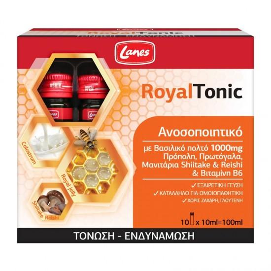 Lanes RoyalTonic 10ml x 10 Monodoses - Συμπλήρωμα Διατροφής με Βασιλικό Πολτό για Τόνωση & Ενδυνάμωση του Ανοσοποιητικού