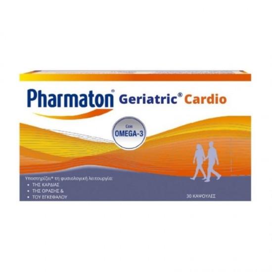 Sanofi Pharmaton Geriatric Cardio με Ωμέγα 3 Λιπαρά Οξέα 30 Κάψουλες - Συμπλήρωμα Διατροφής Πολυβιταμίνης για Ενίσχυση της Λειτουργίας Καρδιάς, Όρασης και Εγκεφάλου