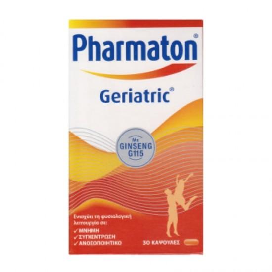Sanofi Pharmaton Geriatric με Ginseng G115 30 Κάψουλες - Συμπλήρωμα Διατροφής Πολυβιταμίνης για Ενίσχυση Μνήμης, Συγκέντρωσης και Ανοσοποιητικού