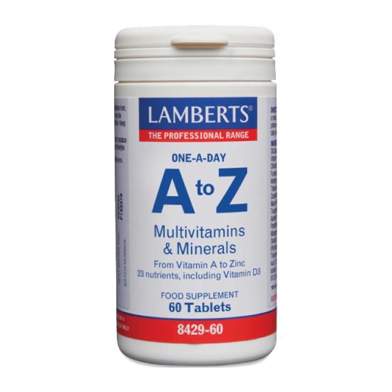 Lamberts A to Z Multivitamins & Minerals 60 Ταμπλέτες - Πολυβιταμίνη με Ευρύ Φάσμα Θρεπτικών Συστατικών για Τόνωση του Οργανισμού