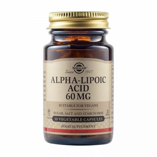 Solgar Alpha-Lipoic Acid 60 mg, 30 φυτικές κάψουλες